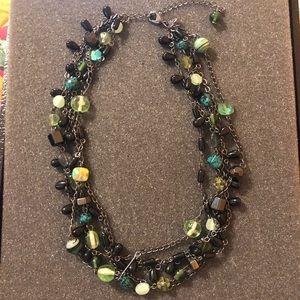 Lia Sophia Silver Chrome Chunky Beaded Necklace
